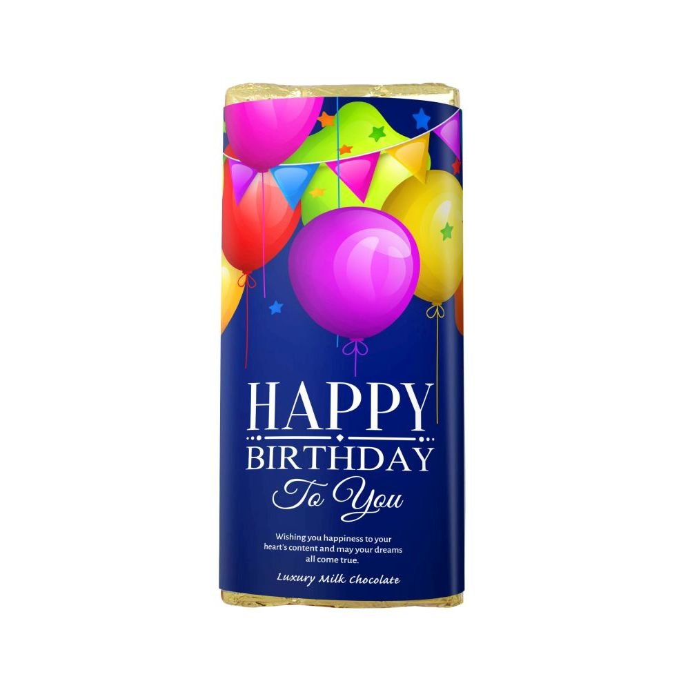 HAPPY BIRTHDAY LUXURY MILK CHOCOLATE