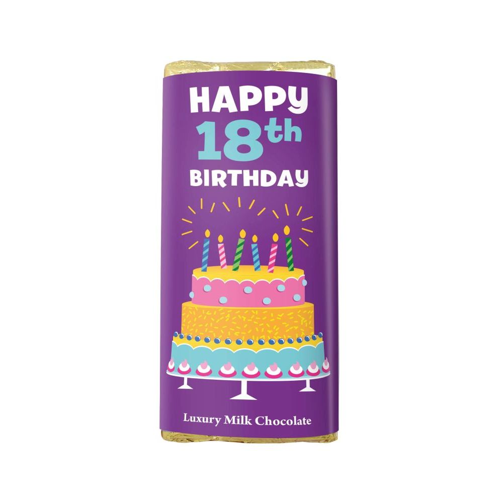 HAPPY 18TH BIRTHDAY LUXURY MILK CHOCOLATE