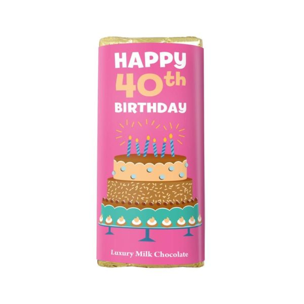 HAPPY 40TH BIRTHDAY LUXURY MILK CHOCOLATE