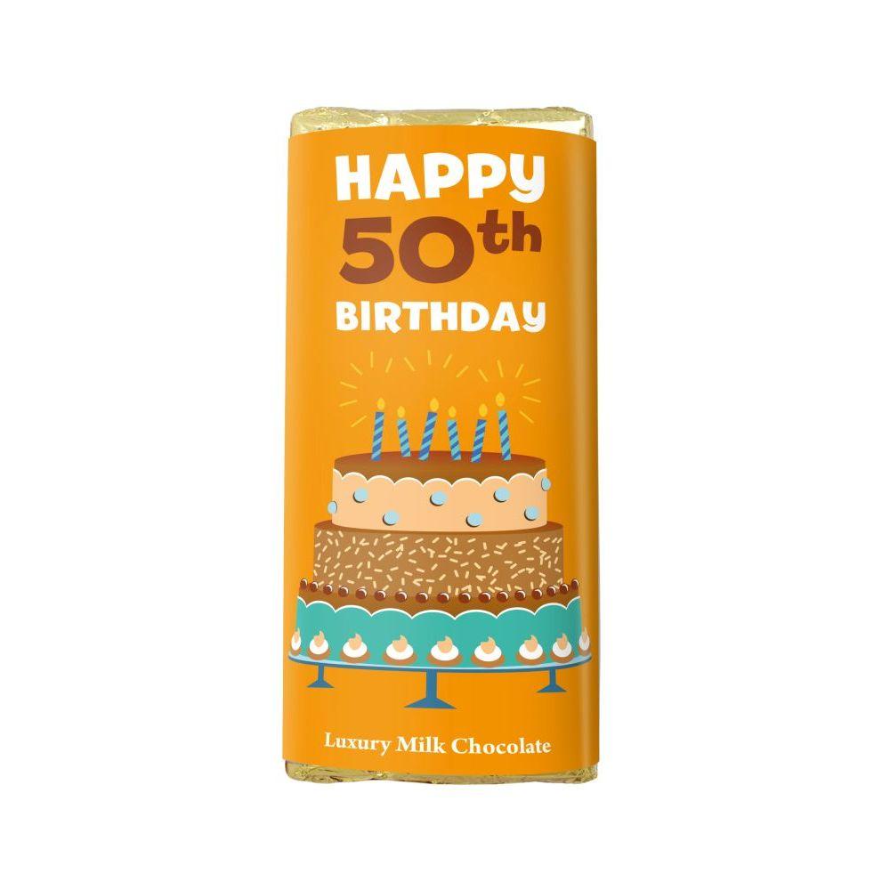 HAPPY 50TH BIRTHDAY LUXURY MILK CHOCOLATE