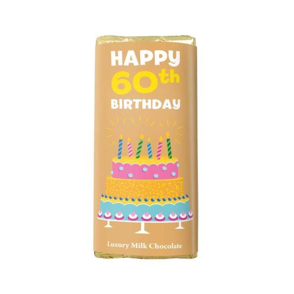 HAPPY 60TH BIRTHDAY LUXURY MILK CHOCOLATE