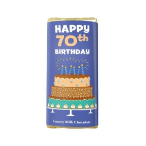 HAPPY 70TH BIRTHDAY LUXURY MILK CHOCOLATE