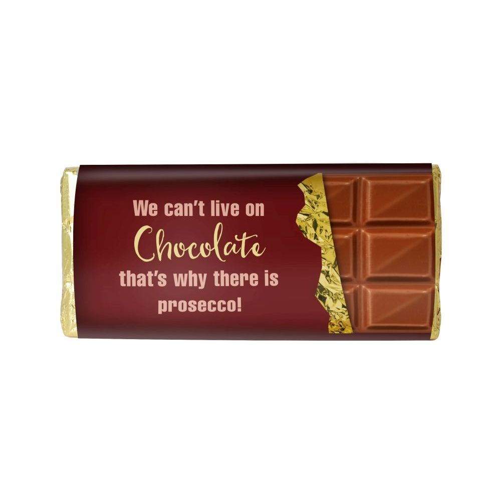 WE CAN'T LIVE ON CHOCOLATE ALONE BAR