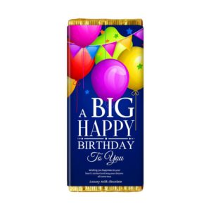 A BIG HAPPY BIRTHDAY CHOCOLATE BAR