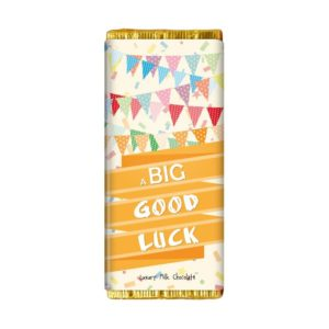A BIG GOOD LUCK CHOCOLATE BAR