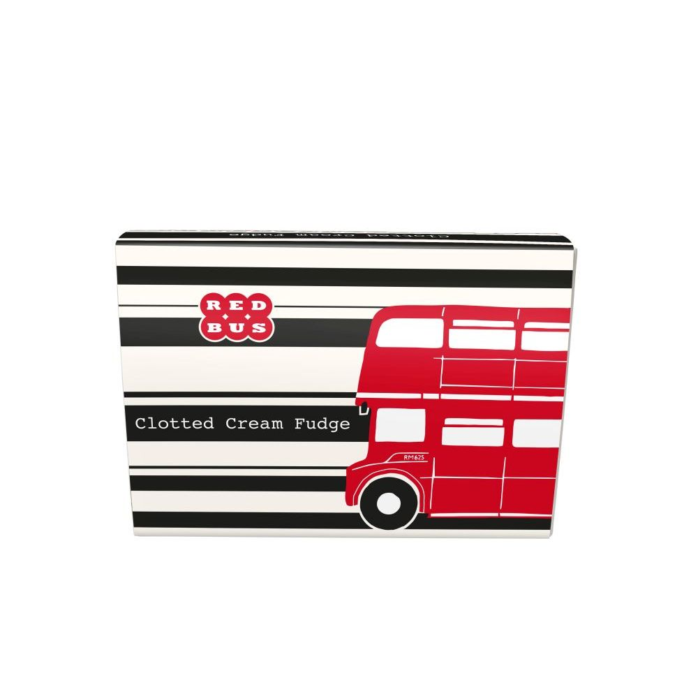 TEMPLE ISLAND RED BUS - CLOTTED CREAM FUDGE
